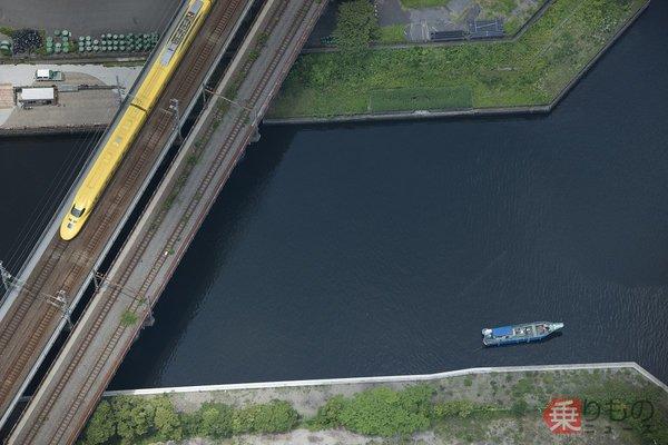 【空から撮った鉄道】レアの二重奏 東海道新幹線「ドクターイエロー」を空から狙う