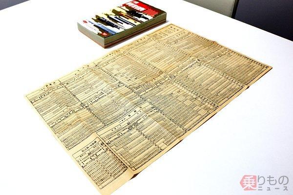 「紙切れ1枚」になった戦時中の全国時刻表 物資統制が進むなかで減ったページ数