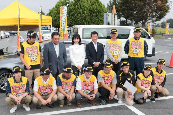 平井理央さん「自分のこととして考えたい」 ダンロップ「全国タイヤ安全点検」実施