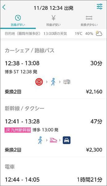 鉄道もタクシーも自転車も検索・予約できる「my route」 福岡市と北九州市で本格実施