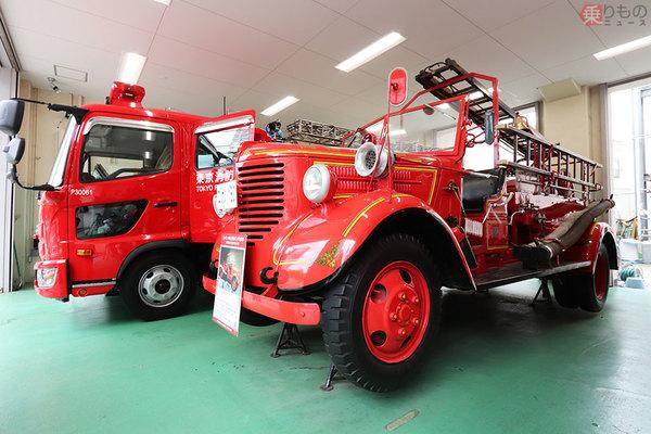 現存唯一 昭和レトロ消防署に眠る戦前生まれの消防車 走る日は来る? 現行型との共通点も