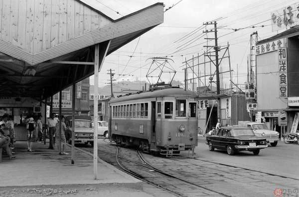 【懐かしの私鉄写真】虫食い乗車になった 福島交通軌道線