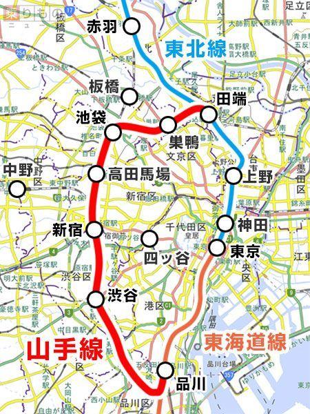 山の手線 地図