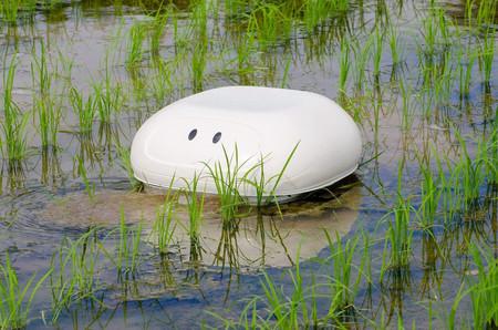 アイガモロボ、田んぼで活躍=水濁らせ雑草対策-山形