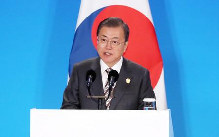 日韓協議体への参加意向を表明=韓国・文大統領、元徴用工問題解決に ...
