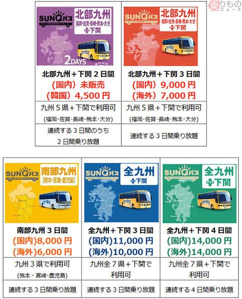 画像ギャラリー   九州のバス乗り放題「SUNQパス」に「元気割」 北部5 ...